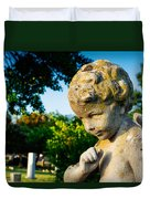 Memphis Elmwood Cemetery - Boy Angel Duvet Cover
