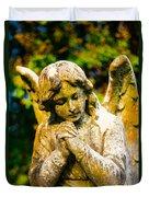 Memphis Elmwood Cemetery - Praying Angel Duvet Cover