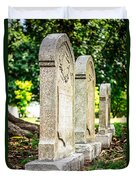 Memphis Elmwood Cemetery Monument - Four In A Row Duvet Cover