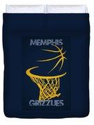 Memphis Grizzlies Hoop Duvet Cover