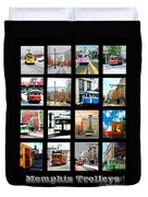 Memphis Trolleys Duvet Cover