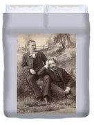 Men, 19th Century Duvet Cover