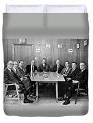 Men At A Business Meeting Duvet Cover