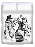 Men Drinking, 1900 Duvet Cover