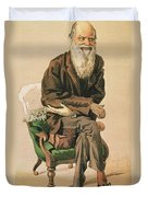 Men Of The Day, No. 33, Charles Darwin, Cartoon From Vanity Fair Duvet Cover