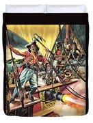 Men Of The Jolly Roger Duvet Cover