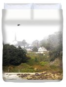 Mendocino Ca Church Duvet Cover