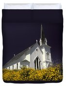 Mendocino Presbyterian Church Duvet Cover