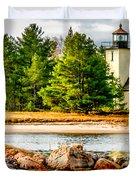 Mendota Bete Grise Lighthouse Duvet Cover