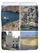 Menorca Collage 02 - Labelled Duvet Cover