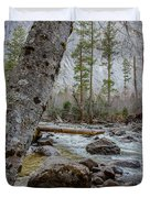 Merced River From Happy Isles Duvet Cover
