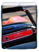Mercedes 300 Sl Dashboard Emblem Duvet Cover