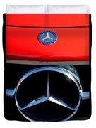 Mercedes-benz 300 Sl Grille Emblem Duvet Cover