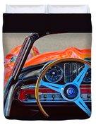 Mercedes-benz 300 Sl Steering Wheel Emblem Duvet Cover