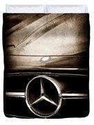 Mercedes-benz Grille Emblem Duvet Cover