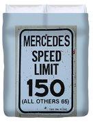 Mercedes Speed Limit 150 Duvet Cover