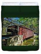 Mercers Mill Covered Bridge Duvet Cover
