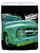 Mercury Truck Bw Background Duvet Cover