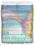 Mermaid Bath II Duvet Cover