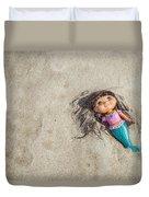 Mermaid In The Sand Duvet Cover