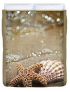 Mermaid Kisses And Starfish Wishes Duvet Cover