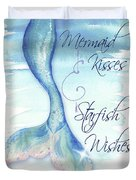 Mermaid Tail I (kisses And Wishes) Duvet Cover