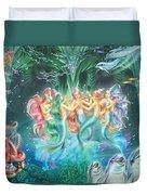 Mermaids Danicing Duvet Cover