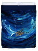 Mermaids Dolphin Buddy Duvet Cover