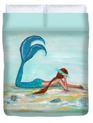 Mermaids Exist Duvet Cover