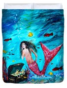 Mermaids Treasure Duvet Cover