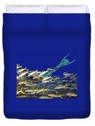 Merman Duvet Cover by Paula Porterfield-Izzo