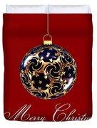 Merry Christmas Bauble Duvet Cover