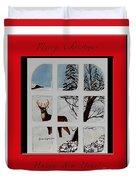 Merry Christmas Deer Duvet Cover