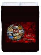 Merry Christmas Globe Duvet Cover