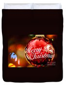 Merry Christmas Ornament Duvet Cover