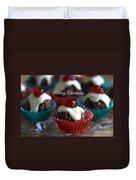 Merry Christmas - Puddings Duvet Cover
