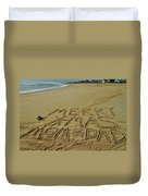 Merry Christmas Sand Art Mom And Dad 3 12/25 Duvet Cover