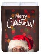Merry Christmas Santa Card Duvet Cover