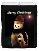 Merry Christmas Snowman  Duvet Cover