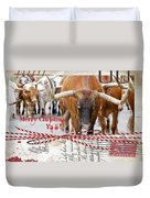 Longhorns Merry Christmas Ya'll Duvet Cover