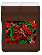 Merry Xtmas - Poinsettia Duvet Cover