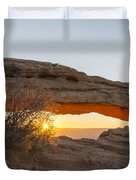 Mesa Arch Sunrise 3 - Canyonlands National Park - Moab Utah Duvet Cover