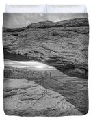 Mesa Arch Sunrise Bw Duvet Cover