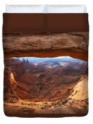 Mesa Sunrise Window Duvet Cover