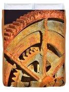 Meshing Gears Duvet Cover by Phyllis Denton