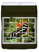 Messed Up Butterfly Duvet Cover by Jean Noren