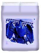Metal American Eagle Symbol Duvet Cover