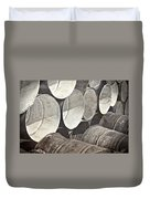 Metal Barrels 1bw Duvet Cover