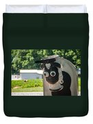 Metal Cow On Farm Duvet Cover