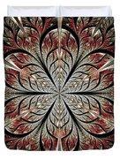 Metal Flower Duvet Cover